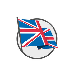 british flag eps vector image