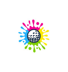 brush golf logo icon design vector image