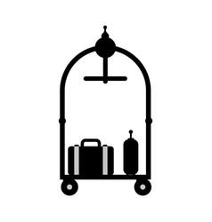 car luggage hotel vector image