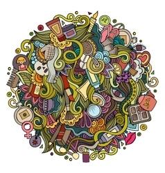 Cartoon cute doodles hand drawn Beauty vector