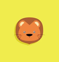 cartoon lion face vector image