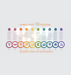 Charts infographic step by step 10 positions vector