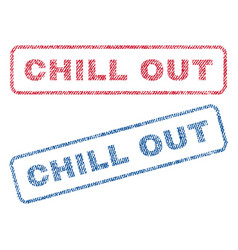 Chill out textile stamps vector