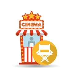 Cinema movie ticket office director chair graphic vector
