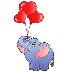 circus elephant with balloons 2 vector image
