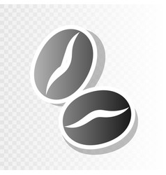 coffee beans sign new year blackish icon vector image vector image