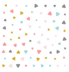 Colorful pastel triangle pattern design vector