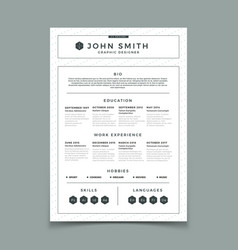 Cv resume business web and print design vector