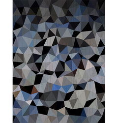 Dark blue and black triangles background vector
