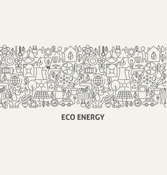 Eco energy banner concept vector
