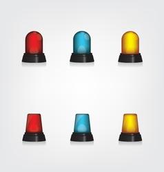 Emergency lights set vector