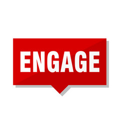 Engage red tag vector