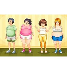 Fat people vector