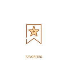 Favorites concept 2 colored icon simple line vector
