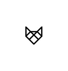 Fox head logo design concept vector