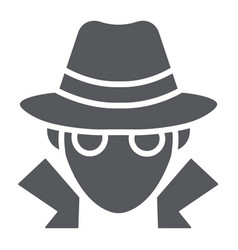 Fraud glyph icon anonymity and agent spy sign vector