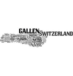 gallen word cloud concept vector image