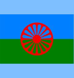 Gypsy flag international gypsy people vector
