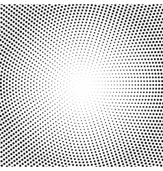 halftone dots Black dots on white vector image