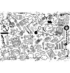 Hand drawing doodle vector