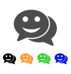 happy chat flat icon vector image