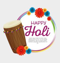 Happy holi festival colors vector