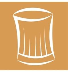 Hat silhouette of restaurant chef design vector