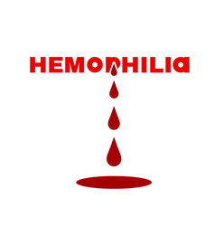 Hemophlia unique lettering vector