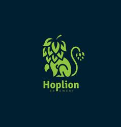 hop lion logo vector image