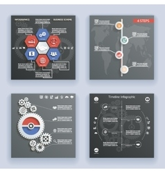 Infographics Elements Symbols and Icons World Map vector image