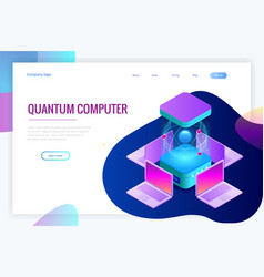 isometric quantum computing or supercomputing a vector image