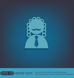Judge icon avatar symbol of justice vector