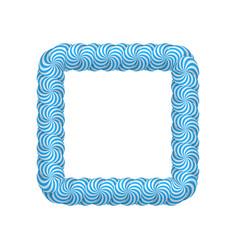 lollipop blue square frame vector image