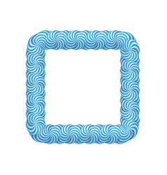 lollipop blue square frame vector image vector image