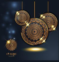 Luxury rings golden mandala background free vector