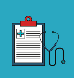 Medical order with stethoscospe isolated icon vector