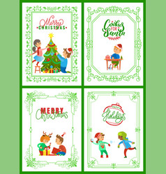 merry christmas holidays children on vacations vector image