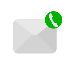Message phone handset icon vector