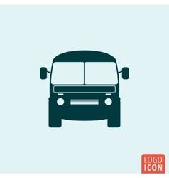 Mini bus icon vector image