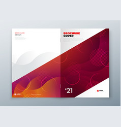 minimal modern front and rear cover design vector image