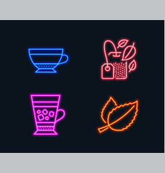 mint bag dry cappuccino and frappe icons mint vector image