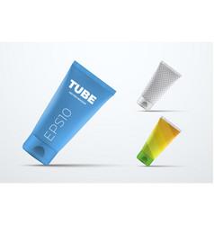 Mockup realistic plastic tube for cream or vector