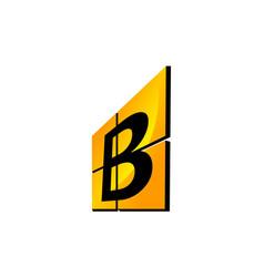 modern logo solution letter b vector image
