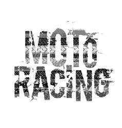 off-road grunge moto lettering vector image
