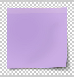 office violet paper sticker with bent lower right vector image