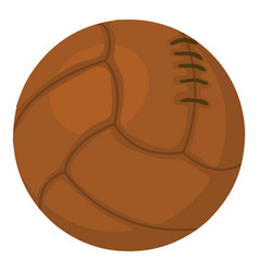 Old volleyball ball icon cartoon style vector