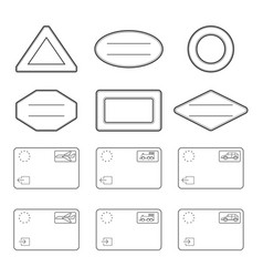 passport blank stamps entry and exit stamps by vector image