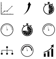Performance icon set vector