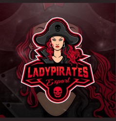 Pirates girls logo mascot vector