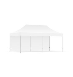 Pop up canopy tent with one wall isolated vector